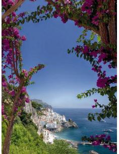 Фототапет с изглед от Амалфи в южна Италия-1