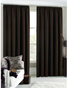 Готова завеса блекаут в тъмно кафяв цвят 2.50x2.50м.-1