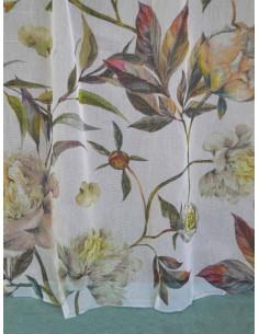 Готово тънко перде на пъстри цветя 6x2.50м.-1