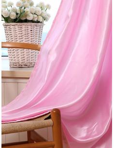 Готова завеса от сатенирана материя в розов цвят 2.50x2.50м.-1