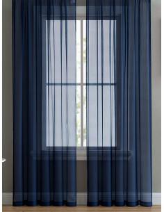 Готово перде от воал в тъмно син цвят 6x2.50м.-1