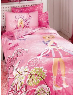Единичен спален комплект TAC Ranforce Barbie Butterfly-1