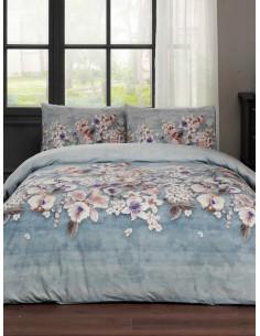 Единичен спален комплект TAC Liza Ranforce на цветя-1
