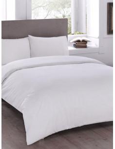 Двоен спален комплект TAC Saten Basic в бяло-1