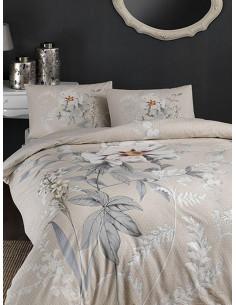 Двоен спален комплект TAC Ranforce Frida с цветя-1