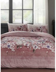 Двоен спален комплект TAC Ranforce Liza в розово-1