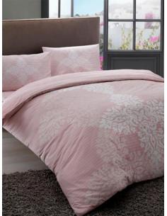 Двоен спален комплект TAC Ranforce Janna в розов цвят-1