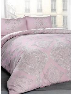 Двоен спален комплект TAC Ranforce Mirabel в розово-1