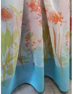 Готово пъстро воалено перде с оранжеви цветя 6x2.50м.-2