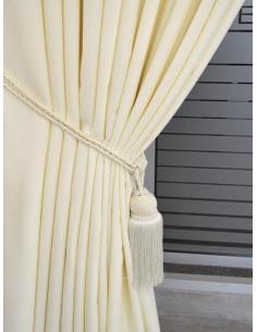Готова плътна мека завеса в цвят слонова кост 2.50x2.50м.-1