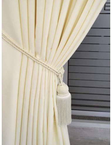 Готова плътна завеса в цвят слонова кост 2.50x2.50м.-1