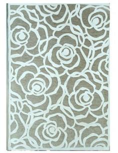 Релефен килим на едри рози-1