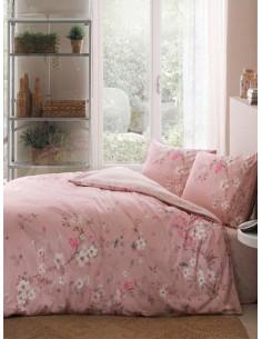 Единичен спален комплект TAC Ranforce Julian в розово-1