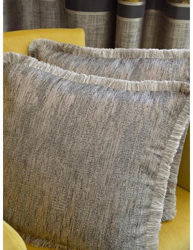 Декоративни възглавници в сиво бежов нюанс с ресни-1