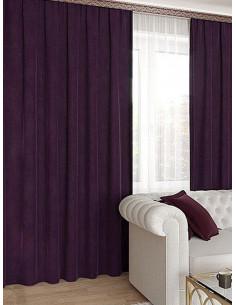 Готова мека плътна завеса в лилав цвят 2.50x2.50м.-1