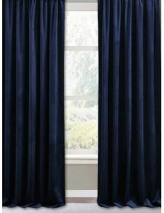 Готова плътна завеса в тъмно син цвят 2.50x2.50м.-1