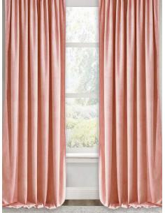 Готова плътна завеса в цвят пудра 2.50x2.50м.-1
