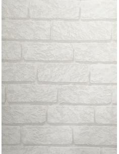 Тапет Бестселър 3 с дизайн на 3D тухли в бяло-1