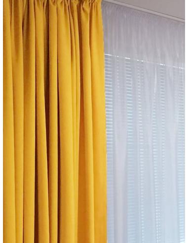 Плат за завеса в цвят горчица-1