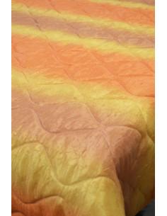 Шалте от креширана материя в оранжеви преливащи нюанси 215x240см.-1