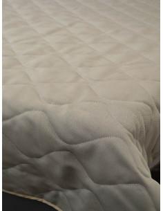 Капитонирано шалте от блекаут в сиво-бежов нюанс 215x240см.-1