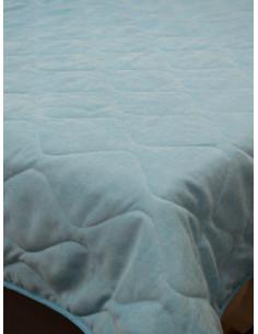 Капитонирано шалте в изчистен светло син нюанс 170x220см.-1