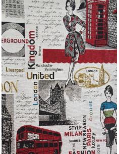 Жакард с надписи и сгради от Лондон-1