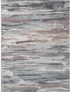 Килим в сиво, кремаво и розово 160x230см.-1