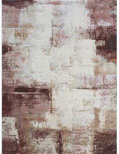Абстрактен килим в кафяво, червено и кремаво 160x230см.-1