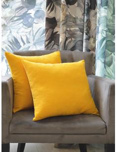 Меки декоративни възглавнички в цвят горчица-1
