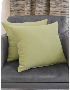 Меки декоративни възглавнички в бледо зелен цвят-1