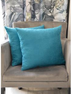Декоративни възглавници от мека материя в син цвят-1