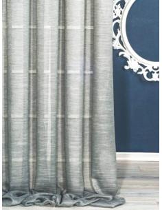 Плат за тънко перде от прозрачна материя в светло сив цвят-1