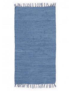 Памучно синьо килимче 60x110см.-1
