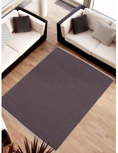 Вълнен килим в цвят антрацит 70x140см.-1
