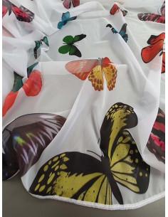 Бял воал с пъстри пеперуди-1