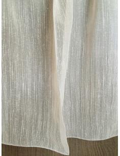 Прозрачно перде с финни бобчета в бежов цвят-1