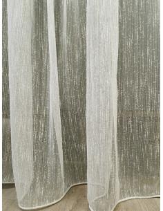 Плат за тънко перде в цвят слонова кост-1