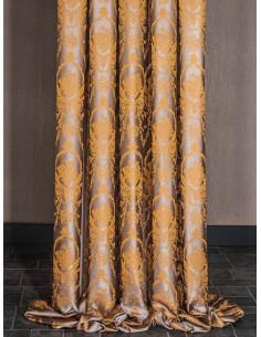 Плътни завеси от сатенена материя с барокови елементи-1