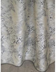 Готова завеса в слонова кост с кафяви и сиви шарки 2.50x2.50м.-1