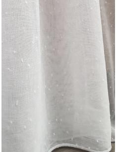 Готово тънко бяло перде с малки точици 6x2.50м.-1