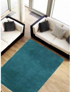 Правоъгълен килим Гала в цвят тюркоаз 160x230см.-1