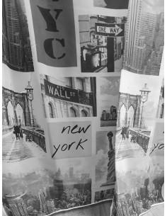 Готово детско перде Ню Йорк в сива гама 8.20x2.50м.-1