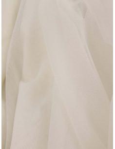 Полупрозрачен плат за перде в слонова кост-1