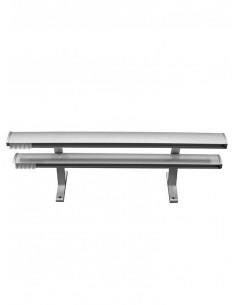 Декоративен двуканален алуминиев корниз - 6300-1