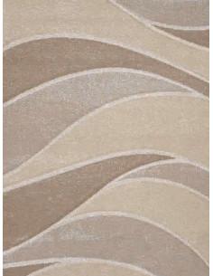 Килим Natural в беж и кремав цвят на вълнички-1