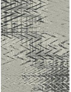 Килим в сив цвят с шарка на зиг-заг-1