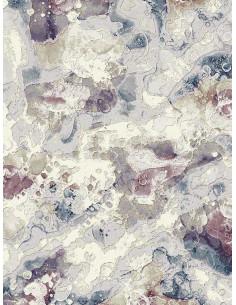 Релефен килим Argentum в синя и лилава гама-1