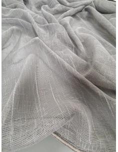Плат за тънко перде в сив цвят-1