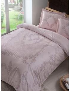 Двоен спален комплект TAC Saten Justine Pembe-1